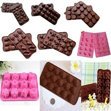 Chocolate Cake Cookie Muffin Jelly Baking Silicone Bakeware Mould Mold e