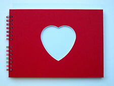 Heart/Square Blank Scrap Book / Guest Book / Photo Album A5, 20 Pages, Acid Free