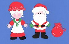 Santa Claus Paper Doll Die Cuts - Santa and/or Mrs. Claus - Christmas Die Cuts
