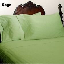 [ SAGE STRIPE ] COM.BEDDING COLLECTION 600TC 100% EGYPTIAN COTTON @ ALL SIZE