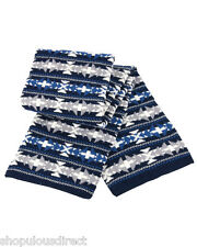 Unisex WINDPROOF Fair Isle Jacquard Thick Scarf Warm Wrap Walking Skiing
