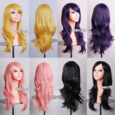 70cm/80cm Long Wavy Style Women/Girl Fashion Cosplay Anime Wig Halloween Gift