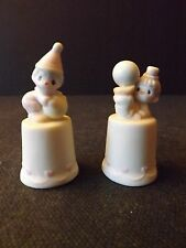 "PRECIOUS MOMENTS ""CLOWNS"" THIMBLES - SET OF TWO - #100668 - NIB WITH TAGS"