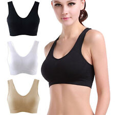 New Womens Seamless NON PADDED Comfy SPORTS BRA Ladies Girls Leisure Top Vest