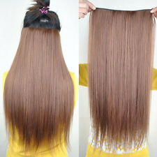 Long Straight Five Clip Onepiece Clip in Hair Extensions Synthetic Hairpiece J18