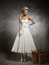 stock Bride Bridesmaid Wedding Gown Prom Ball Evening Dress Size 6-8-10-12-14-16