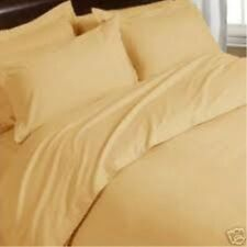 [ WHOLESALE PRICES ] 800TC 100% EGYPTIAN COTTON 1PC FLAT SHEET [ SOLID GOLD ]