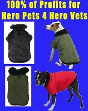 Zack and Zoey Green HEAVY Thermal Lined Fleece Coat XXS S M Boston Terrier Pug