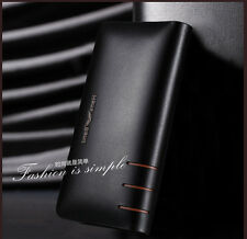 New style High-end Men's Leather zipper Travel Wallet Clutch bag Free shipping