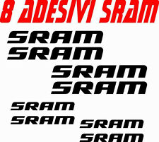 KIT 8 ADESIVI SRAM BICI STICKERS SRAM BIKE