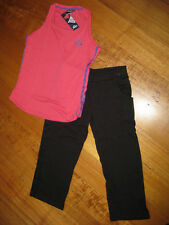 Lonsdale ladies gym running 3/4 pants & singlet top set 10 12 14 16 18 20