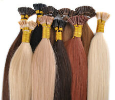 """100s 18"""" 20"""" 22"""" Remny Human Hair Extensions I-tip Any Colors+Micro Beads/Tubes"""