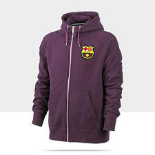 New Nike Mens FC Barcelona Full Zip Hooded Sweat Jacket Hoodie FCB Purple