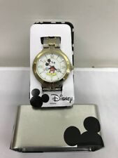 Disney Mickey Mouse Gold/Silver Watch; Comes in Collectable Tin - 40% Off Retail