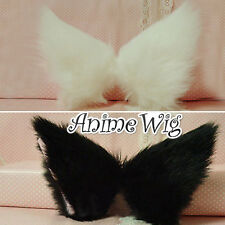 Fashion Black / White / Leopard / Green Clip In Cosplay Hair Clip Cat Ears