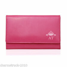 PERSONALISED PINK LEATHER PURSE DESIGN X 11 eg LIVE LAUGH LOVE SHOPPING & MORE