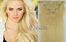 "Cheap 4PCS 60G 100% remy human hair clip-on in extensions 16""20""24""  On Sale"