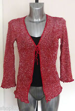 Ladies Cahoots One Size Tie Front Cardigan Shrug with Sparkle Bnwt/Bnwot