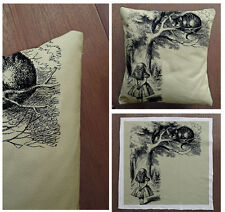 Alice In wonderland Cheshire Cat -Cushion Fabric Panel Or Case or with Filling