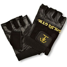 Golds Gym Max Lift Leather Weight Lifting Gloves Body Building Exercise Training