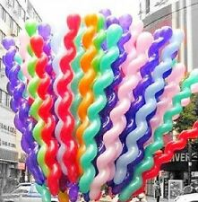 20/50/100pcs Mixed Colors Spiral Wave Long Balloons Birthday Party Decoration