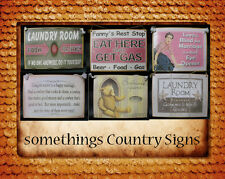 Country Printed Quality Wooden Sign & Hanger Funny Plaque- You choose the design