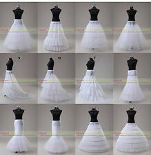 White Wedding Ball Gown Hoop/Hoopless/Mermaid Fishtail Crinoline Petticoat Slips