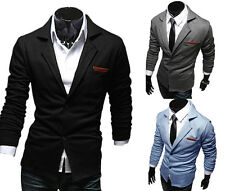 New Stylish Men's Casual Dress Slim Fit Two Button Coat Suit Top Jackets Blazer