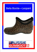 Funky Ladies Ankle Gumboots Leopard Size 5 6 7 8 9 10 11 New Wellies Womens