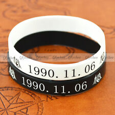 1PC New Fashion EXO-KRIS Birthday Stars Silicone Neon Wristband Bracelet