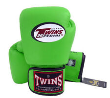 Twins Special Muay Thai MMA K1 Boxing Gloves BGVL3 Green Training Sparring 8 16
