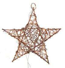 Primitive Grapevine Star with Lights-2 sizes