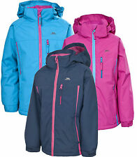 Trespass Tomboy Girls Fleece Lined Jacket Waterproof 2 - 12 yrs School Coat