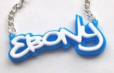 Personalised Graffiti name necklace any name any colour unique and customisable