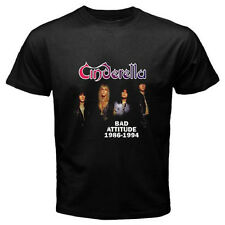 New CINDERELLA 80s Retro Heavy Metal Rock Band Men's Black T-Shirt Size S to 3XL