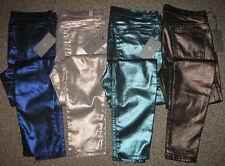 NEW! 7 FOR ALL MANKIND Liquid METALLIC SKINNY JEANS 24 25 27 28 29 31 32 $198