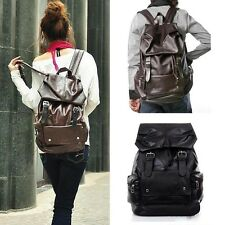 Vintage Girls PU leather Backpack Bookbags Satchel Rucksack Travel Shoulder Bag
