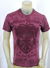 NWT AFFLICTION MEN ss 'GUARDIAN OF TRUTH' crown biker CREW NECK tee SIZES: M