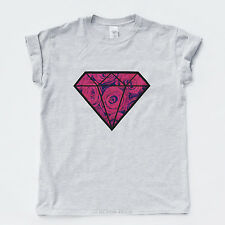 DIAMOND FLORAL T SHIRT Hype Roses Vintage Hipster Obey Hip Hop Indie Boy Girls T