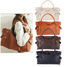 Korean Women Ladies Handbag PU Leather OL Shoulder Bag Shopping Hobo Tote Bag