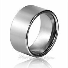 12mm Men's Tungsten Carbide Polished Pipe Cut Band Wedding Ring Size 5-15 (098)