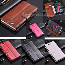 Luxury Flip Stand Wallet PU Leather Cover Skin Case For Sony Xperia Z L36h C6603