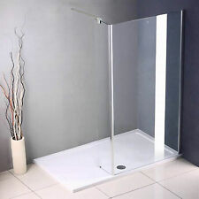 Walk In Shower Enclosure Wet Room Screen Glass Cubicle Side Panel Stone Tray A33