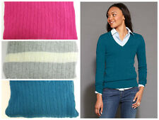 New Tommy Hilfiger Womens VNeck Cable Stitch Sweater YOU PICK COLOR & SIZE