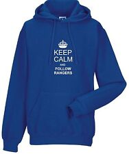 KEEP CALM AND FOLLOW RANGERS FAN HOODY ALL SIZES AVAILABLE