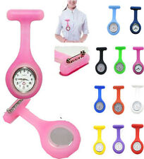 Silicone Case Nurse Doctor Brooch Fob Tunic Watch Quartz Movement Wholesale Lots