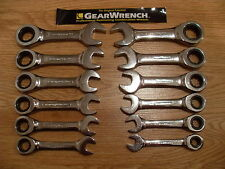 NEW GEARWRENCH  SAE OR METRIC STUBBY COMBINATION RATCHETING WRENCH SINGLE OR SET