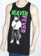 Riot Society Beaver Fever Tee Mens Black Tank Top New NWT