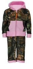 INFANT BABY GIRL- FLEECE CAMO & PINK LONG SLEEVE JACKET & PANTS OUTFIT SET