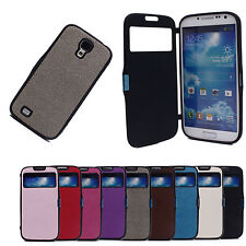 Smart View Window Leather Flip Cap Cover Case for Samsung Galaxy S4 IV i9500